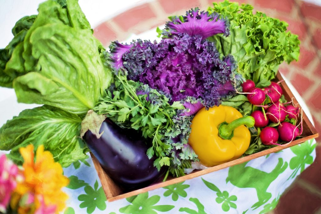 vegetables in basket nutrition counseling