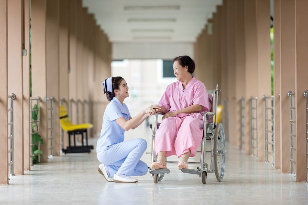 home care careers open door nurse and elderly patient